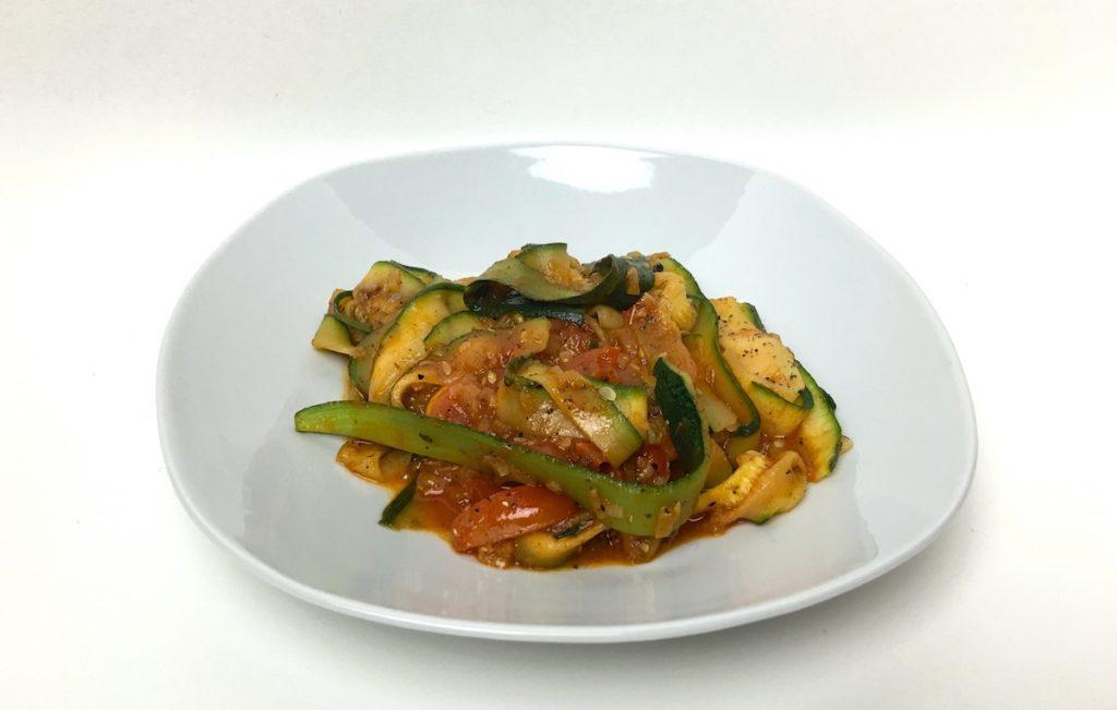 Sommergerichte Zucchini-Nudeln