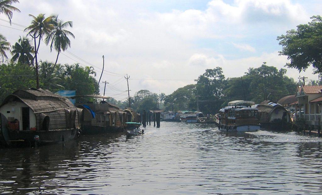 Hausboote in den Backwaters