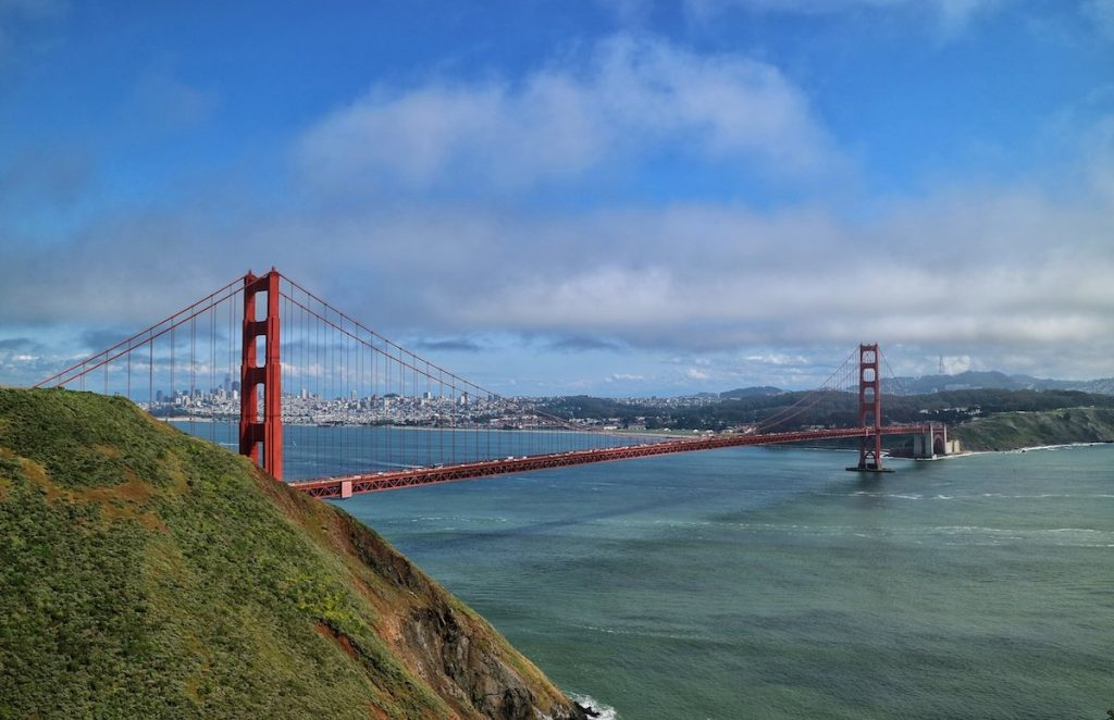 Traumblick auf San Francisco und die Golden Gate Bridge