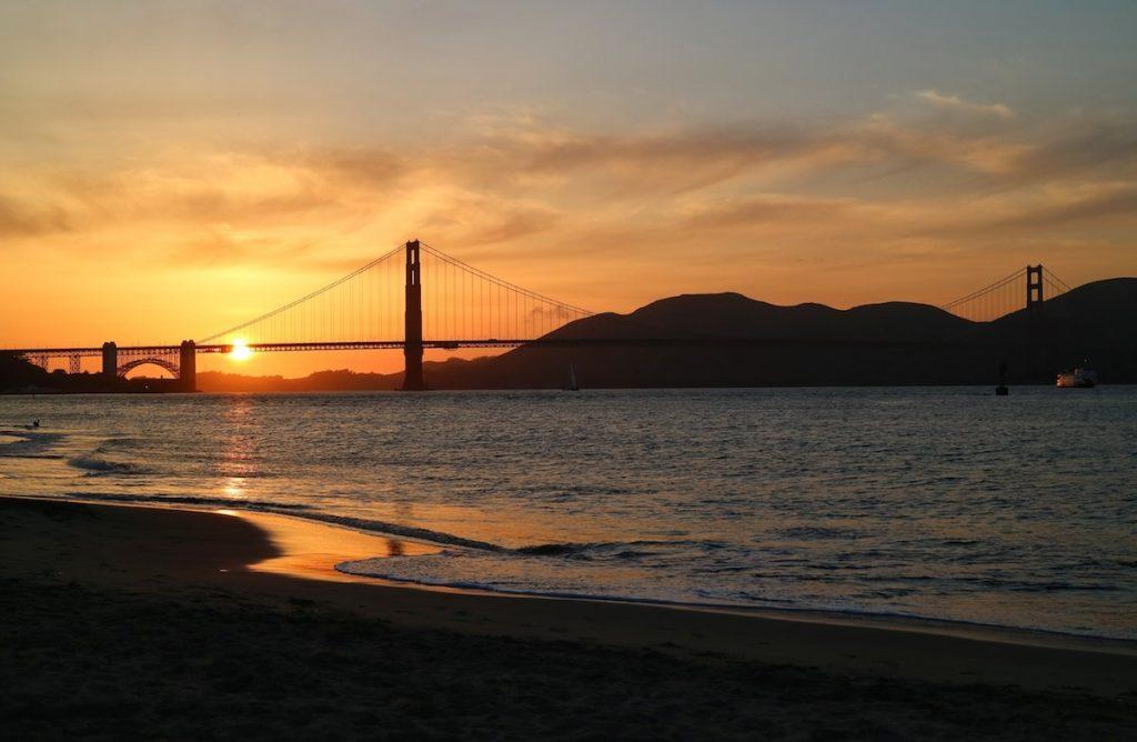 Sonnenuntergang Golden Gate Bridge