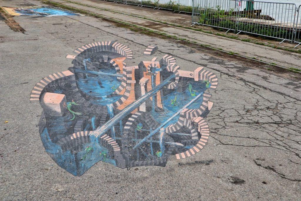 Street Art auf der Straße in Krefeld