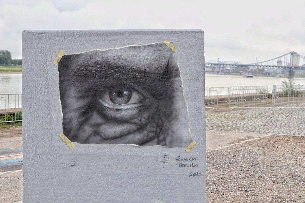 Street Art in Krefeld Auge am Rhein