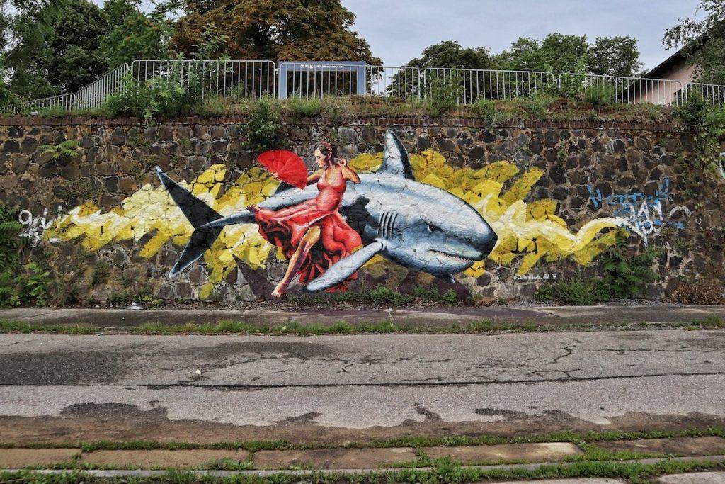 Street Art am Rhein