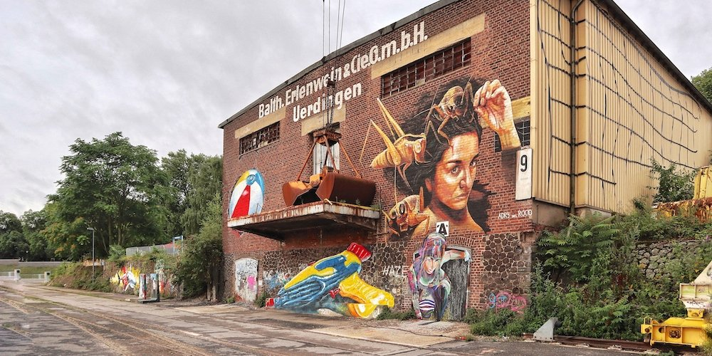 Rhine Side Gallery – Street Art in Krefeld