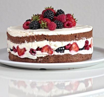 Schoko-Beeren-Torte | Rezept für einen naked cake