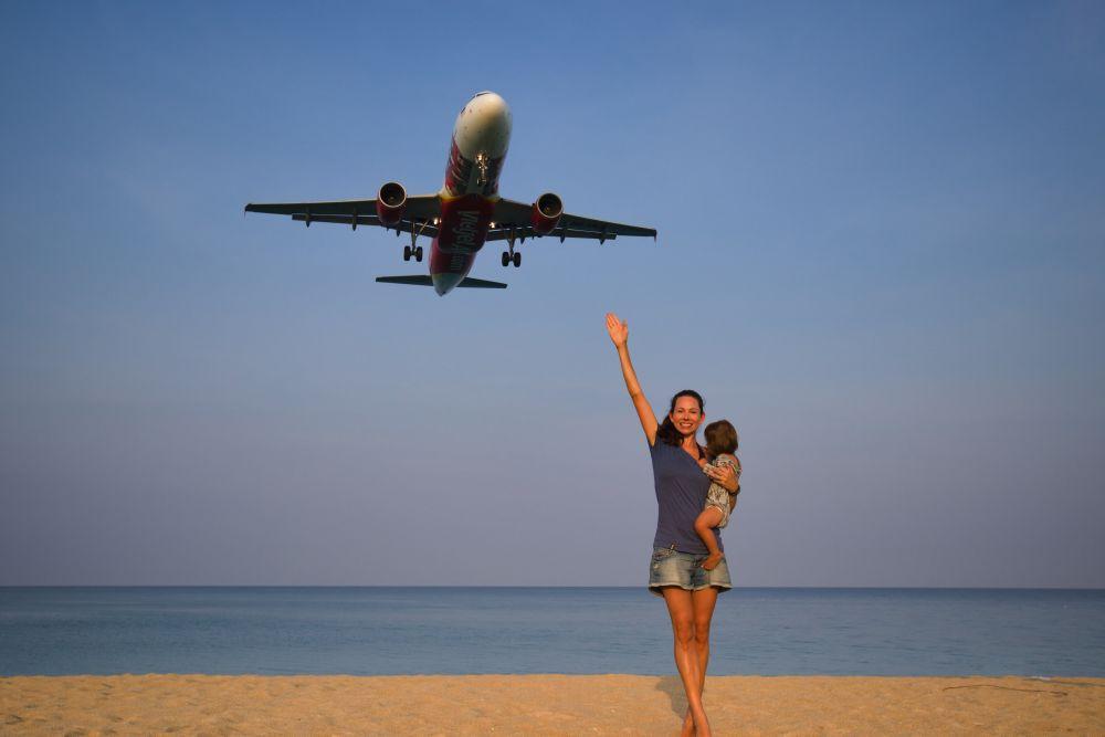 Plane Spotting in Phuket Thailand Flugzeug