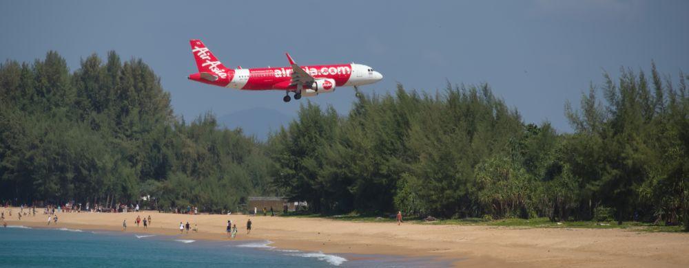 Plane Spotting in Phuket Thailand Flughafen